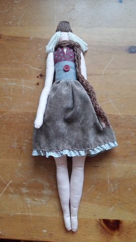 Jenna pan poupee dolls handmade workshop class craft nan mckay glasgow tilda