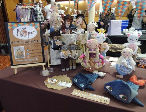 jenna pan poupée doll handmade fait main artisan artisanat craftswork ooak modèle unique marché art craft fair hillhead library t n c events 2017 glasgow